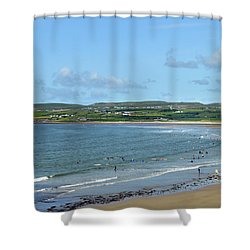 Shower Curtain featuring the photograph Lahinch Beach by Terence Davis