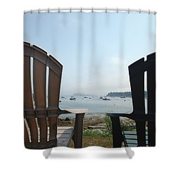 Shower Curtain featuring the digital art Laid Back by Olivier Calas