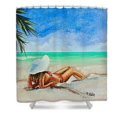 Laid Back Shower Curtain by Patricia Piffath