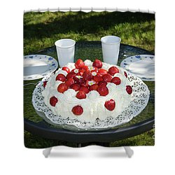 Shower Curtain featuring the photograph Laid Summer Table by Kennerth and Birgitta Kullman