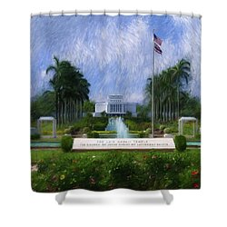 Laie Hawaii Temple Shower Curtain