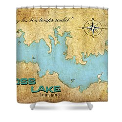 Laissez Les Bon Temps Roulet - Cross Lake, La Shower Curtain