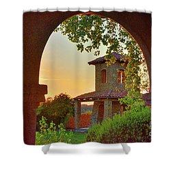 Lajitas Sunrise Shower Curtain