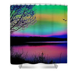Lake 4 Shower Curtain