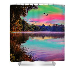 Lake 5 Shower Curtain