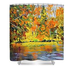 Lake Aerofloat Fall Foliage Shower Curtain