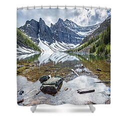 Lake Agnes Shower Curtain