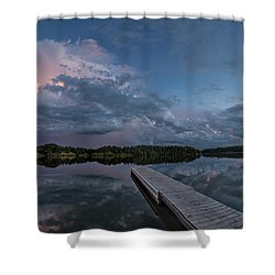 Lake Alvin Supercell Shower Curtain