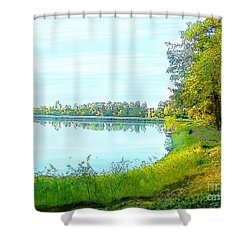 Lake And Woods Shower Curtain