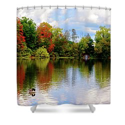 Lake At Forest Park Shower Curtain