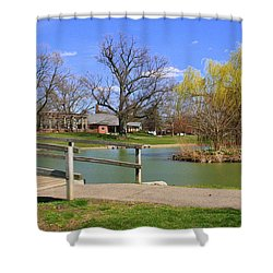 Lake At Schiller Park Shower Curtain