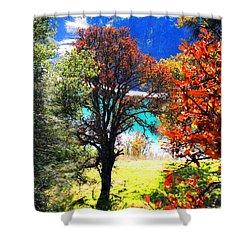 Lake Berryessa Shower Curtain