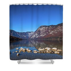 Shower Curtain featuring the photograph Lake Bohinj by Davor Zerjav