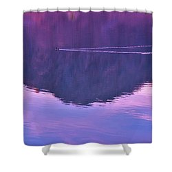 Lake Cahuilla Reflection Shower Curtain by Michele Penner