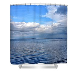 Shower Curtain featuring the photograph Lake Champlain From New York by Brendan Reals