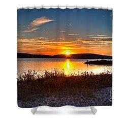 Lake Charlevoix Sunset Shower Curtain