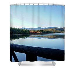 Lake Chocorua Autumn Shower Curtain by Nancy De Flon