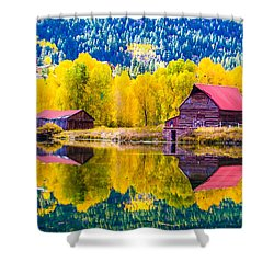Lake City Reflections Shower Curtain by Jim McCain