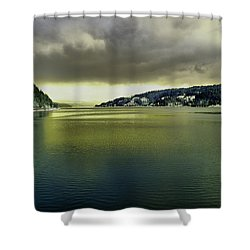Shower Curtain featuring the photograph Lake Coeur D' Alene by Jeff Swan