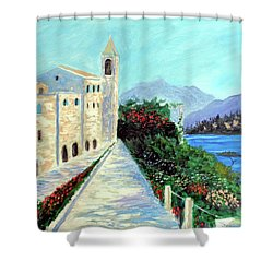 Lake Como Colors  Shower Curtain