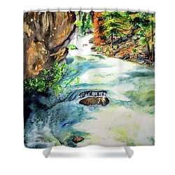 Lake Como Waterfall Shower Curtain by Tracy Rose Moyers