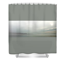 Lake Conroe Watercolor Shower Curtain by Ellen O'Reilly