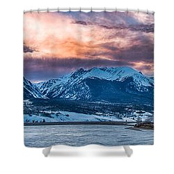 Shower Curtain featuring the photograph Lake Dillon by Sebastian Musial