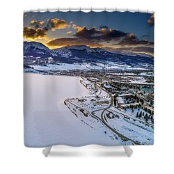 Shower Curtain featuring the photograph Lake Dillon Sunset by Sebastian Musial