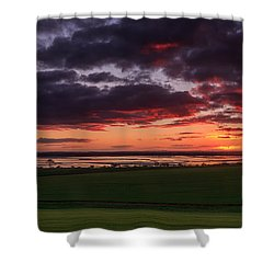 Lake Dumbleyung Sunset Shower Curtain