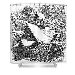 Lake Effect Snow Shower Curtain