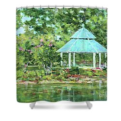 Lake Ella Gazebo Shower Curtain