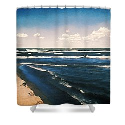 Lake Erie Whitecaps  Shower Curtain by Shawna Rowe