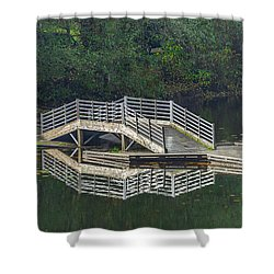 Shower Curtain featuring the photograph Lake Fenwick by Jerry Cahill