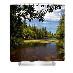 Shower Curtain featuring the photograph Lake Fulmor View by Ivete Basso Photography