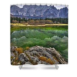 Lake Fusine Shower Curtain