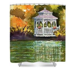 Lake Gazebo Shower Curtain