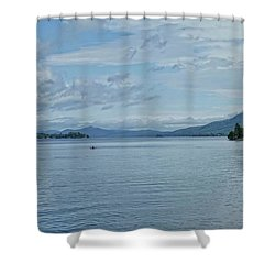 Lake George Kayaker Shower Curtain
