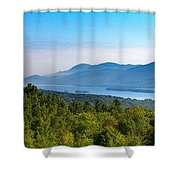 Lake George, Ny And The Adirondack Mountains Shower Curtain