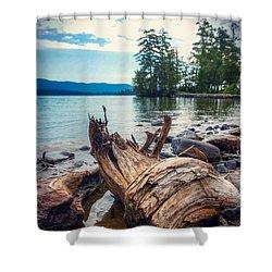 Lake George Palette Shower Curtain