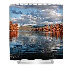 Lake George Panorama  Shower Curtain