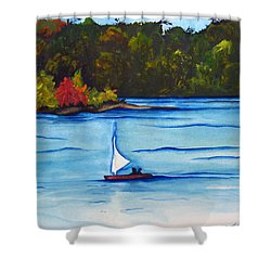 Lake Glenville  Sold Shower Curtain by Lil Taylor