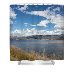 Lake Granby -- The Third-largest Body Of Water In Colorado Shower Curtain by Carol M Highsmith