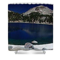 Lake Helen Lassen  Shower Curtain by Peter Piatt