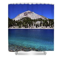 Shower Curtain featuring the photograph Lake Helen Mount Lassen 2 by Frank Wilson