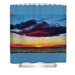 Lake Huron Sunset Shower Curtain