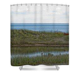 Shower Curtain featuring the photograph Lake Huron by Tara Lynn