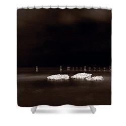 Lake Ice Shower Curtain by Steve Gadomski