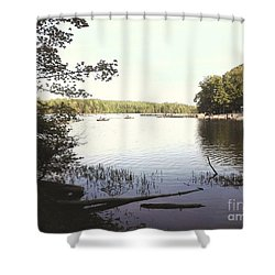 Lake At Burke Va Park Shower Curtain
