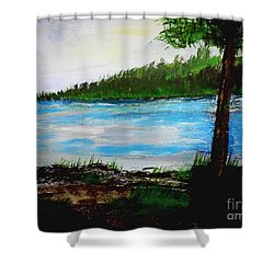 Lake In Virginia The Painting Shower Curtain