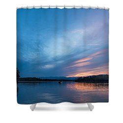 Lake James Portal Shower Curtain by Robert Loe